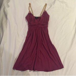 Sky magenta mini dress